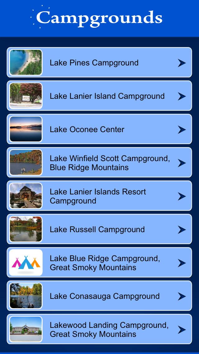 Georgia Campgrounds Guide screenshot 2