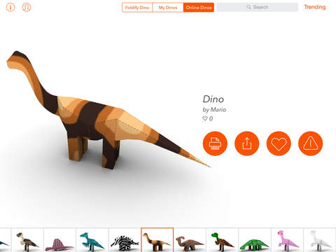 Foldify Dinosaurs screenshot 4