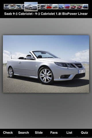 Specs for Saab Cars - náhled