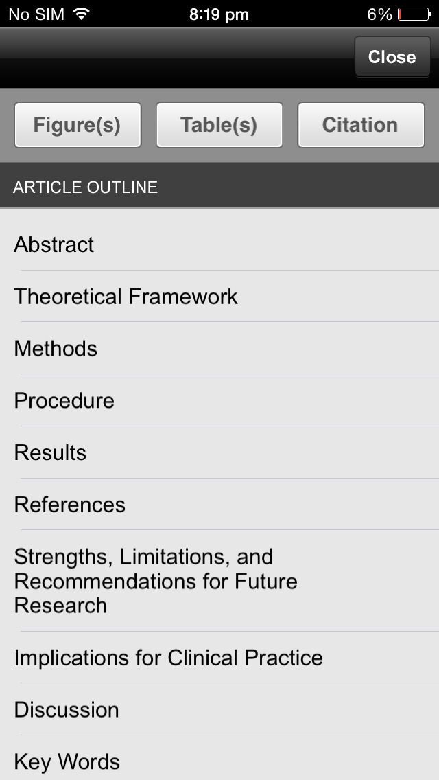 Journal of Ped Health Care screenshot 2