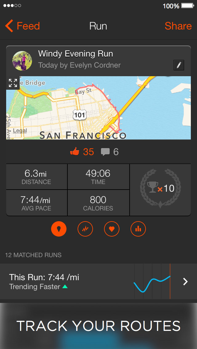 Strava: Run, Ride, Swim screenshot 1