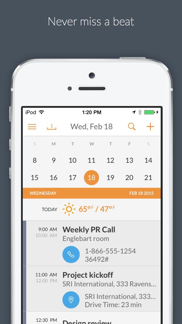 Tempo Smart Calendar screenshot 1