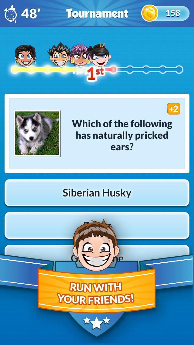 Quiz Run - Challenge your friends! screenshot 1