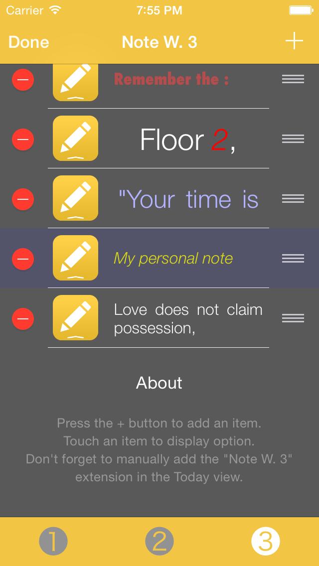 Note Widget screenshot 4