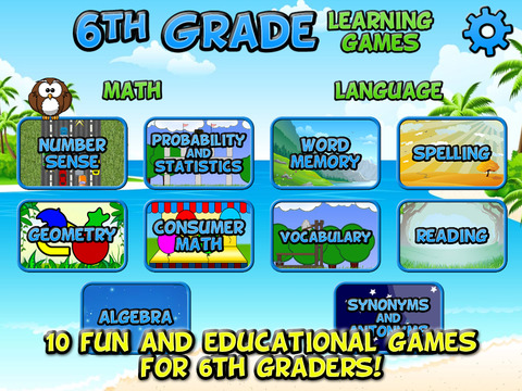 Sixth Grade Learning Games SE screenshot 6