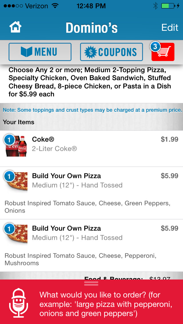 Domino's Pizza USA screenshot 2