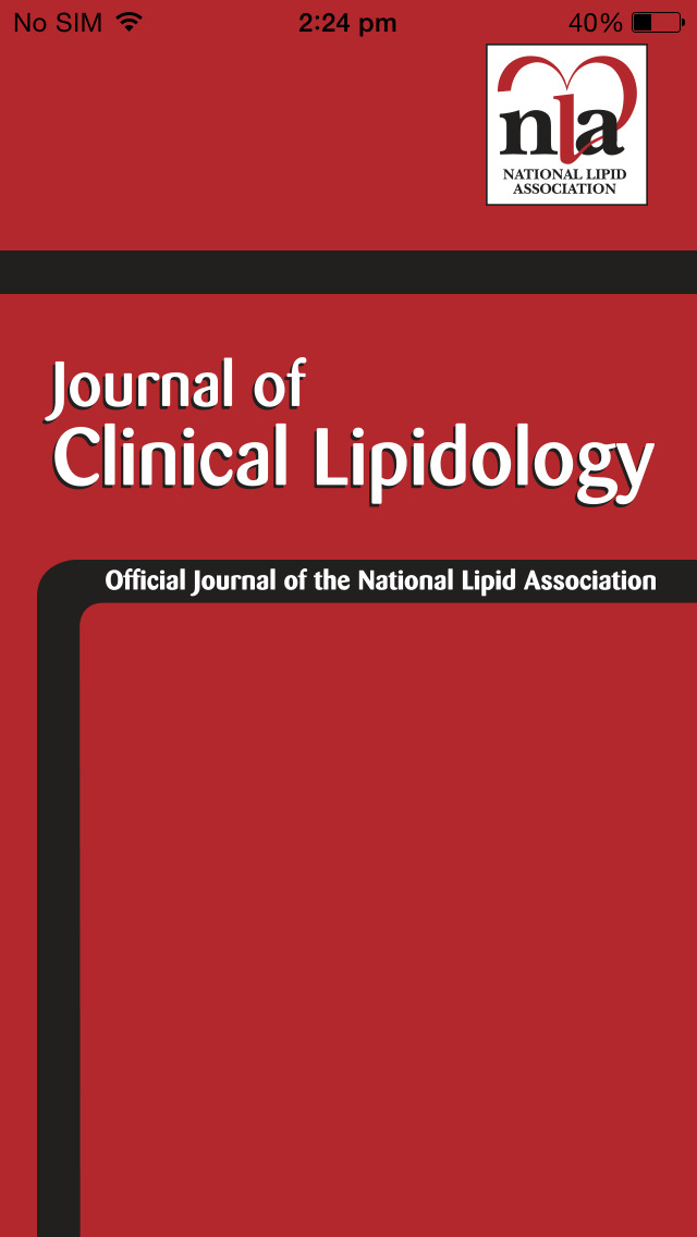 Journal of Clinical Lipidology screenshot 1