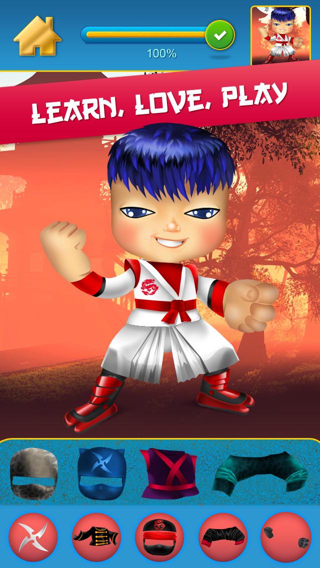 My Mega Power Ninja Hero Design & Copy Crazy Game screenshot 1