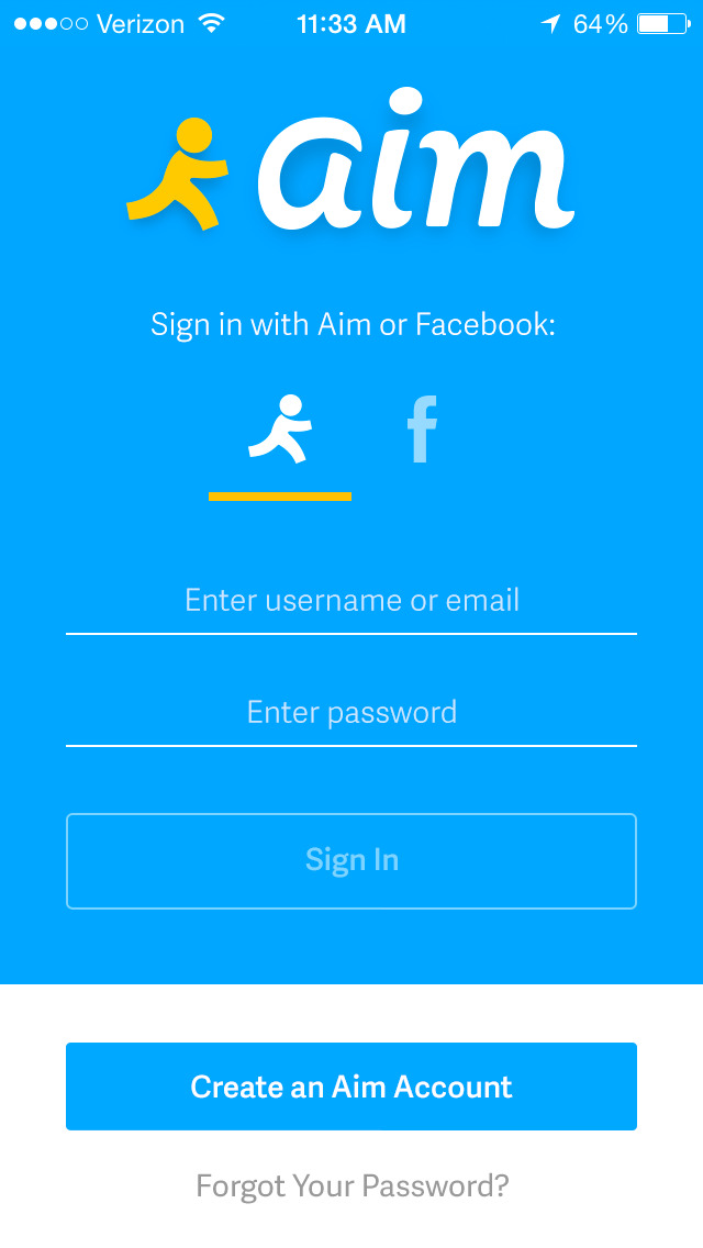 AIM: Chat, Free Text, Photo Share, Voice Message screenshot 1