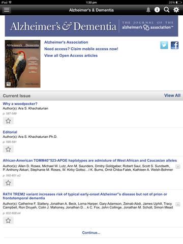 Alzheimer's & Dementia Journal screenshot 8