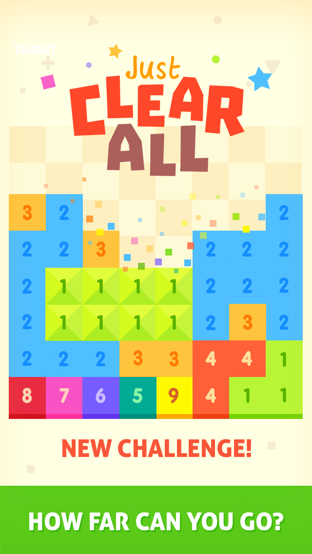 Just Clear All - popping numbers puzzle game screenshot 1