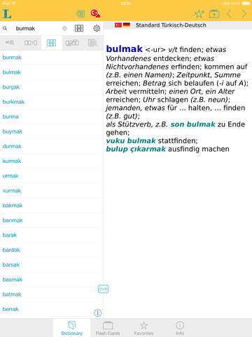 Big German Turkish Dictionary screenshot 9
