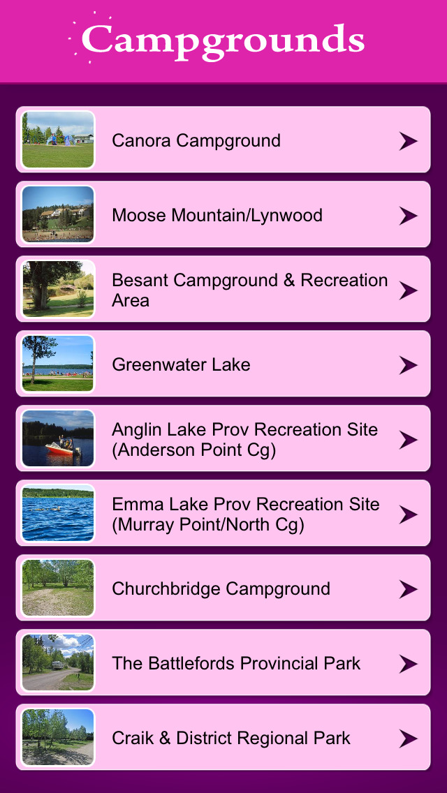 Saskatchewan Campgrounds & RV Parks screenshot 2