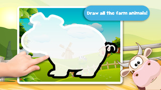 Kids Puzzle Teach me Tracing & Counting with Farm Animals Cartoon learn that the cow sleeps in the barnyard, the chicken lays eggs and the piggy loves mud screenshot 2