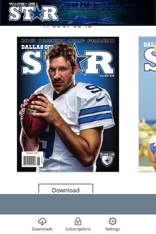 Dallas Cowboys Star Magazine - náhled