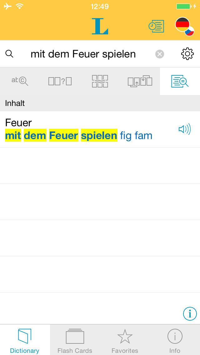 German Czech Dictionary screenshot 2