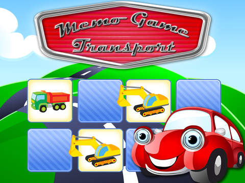 Free Memo Game Transport Cartoon screenshot 6