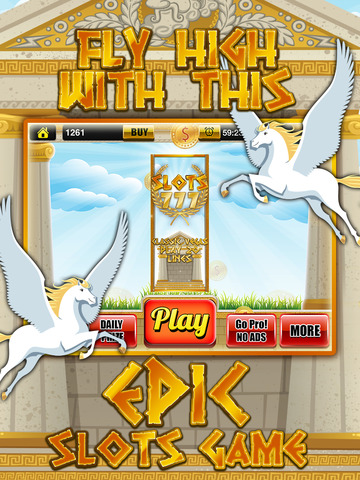 Ace Classic Slots Zeus Way - Age Of Titans Slot Machine Games HD screenshot 5