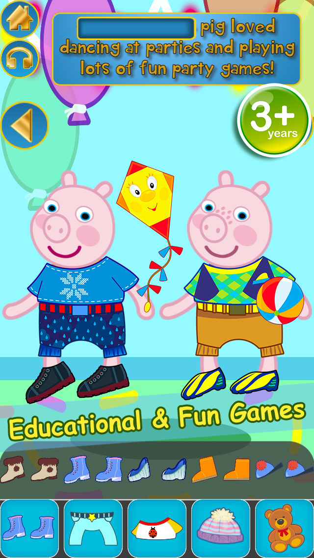 My Interactive Happy Little Pig Story Book Dress Up Time Game - Advert Free App screenshot 1