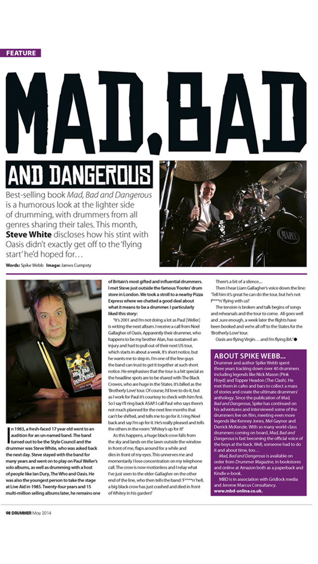 iDrum magazine: Drummer magazine's digital edition screenshot 3