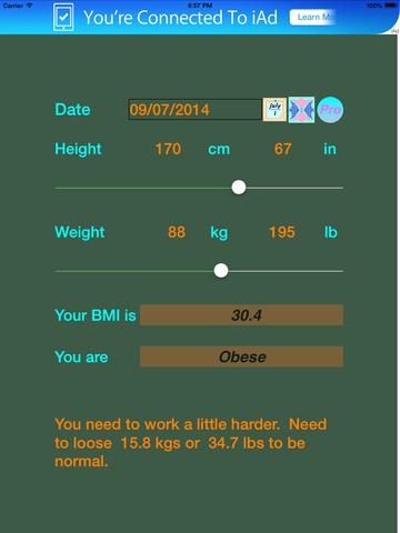 BMI Explorer screenshot #1