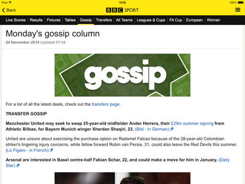 BBC Sport screenshot 8