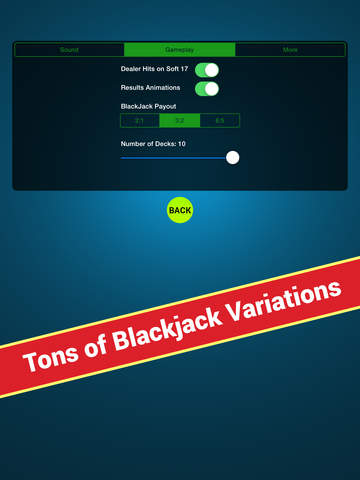 Blackjack Anywhere - The Best Real Blackjack Game for your Apple Watch or your iPhone. screenshot 10