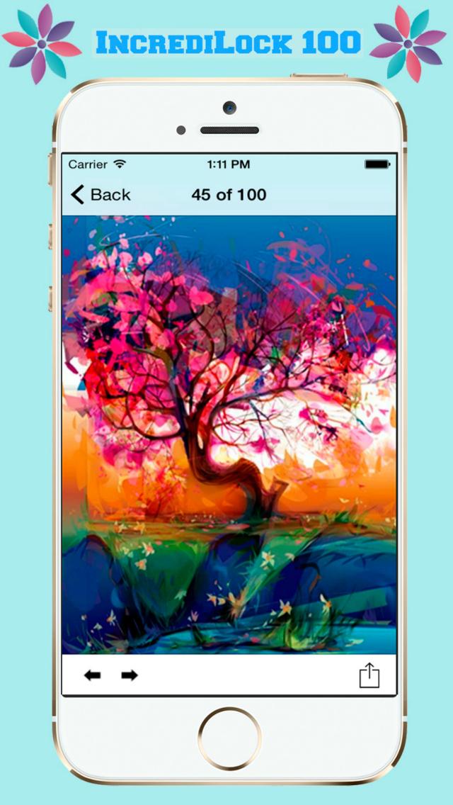 IncrediLock 100 - Beautiful and Fancy Abstract Backgrounds screenshot 3
