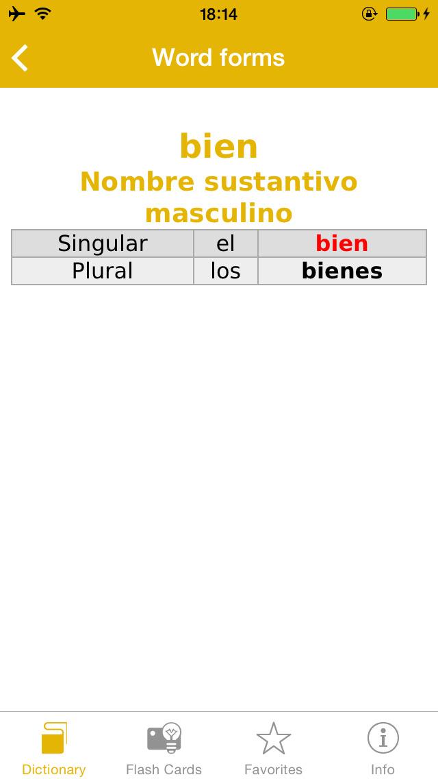 Spanish <-> Italian Talking Dictionary Global Mondadori Langenscheidt screenshot 5