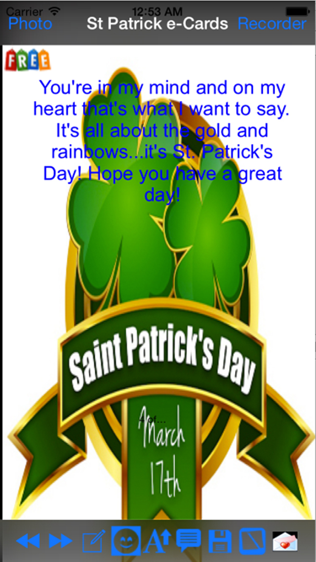Saint Patrick's Day eCards screenshot 2