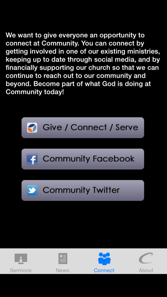 Community Bible Church app screenshot 3
