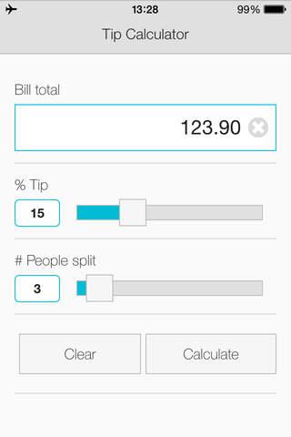 Tip Calculator App for FREE - náhled