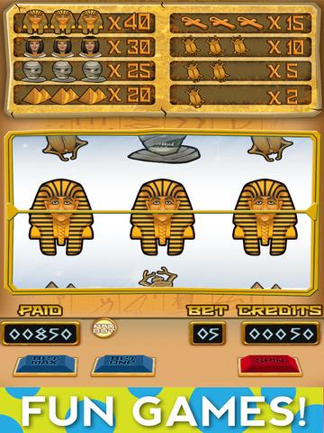 `Lucky Pharaoh Egypt Gold Treasure Temple Casino Slots Free screenshot 6