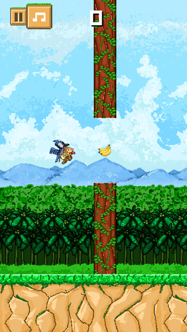 ` Action of Flying Monkey and Baby Bird  FREE screenshot 3