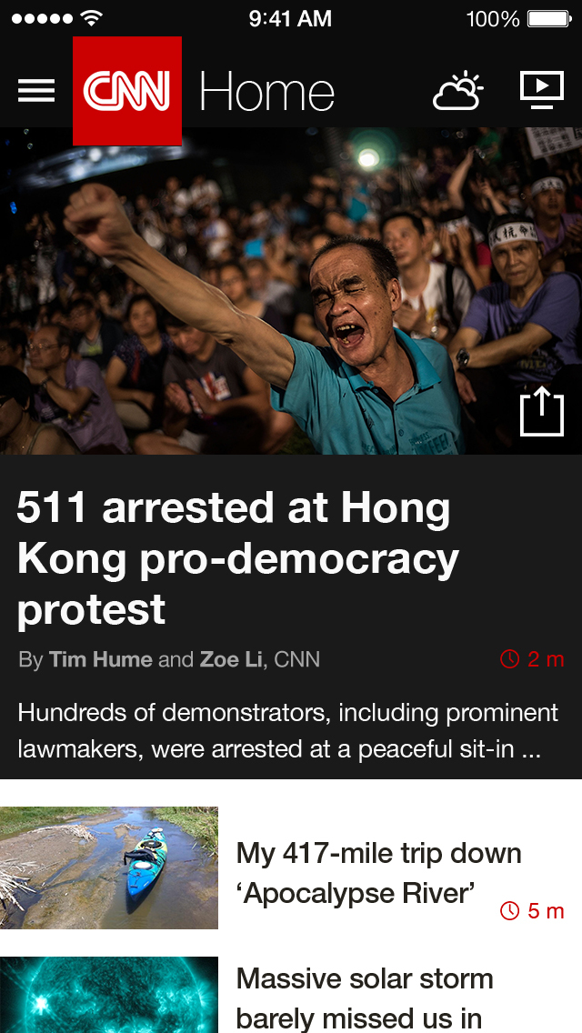 CNN: Breaking US & World News screenshot 1
