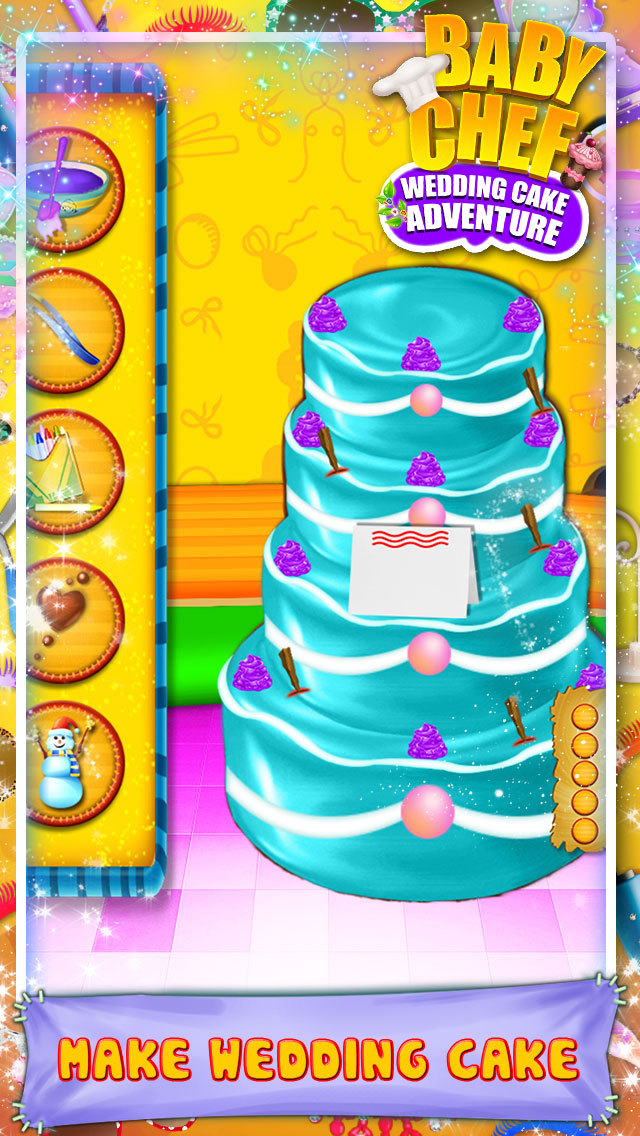 Baby Chef Wedding Cake Adventure screenshot 1