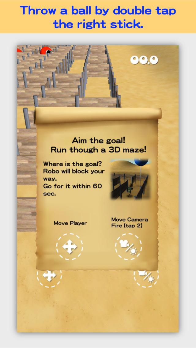 3D Maze Robo FREE screenshot 5