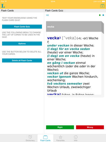 German - Swedish Dictionary screenshot 8