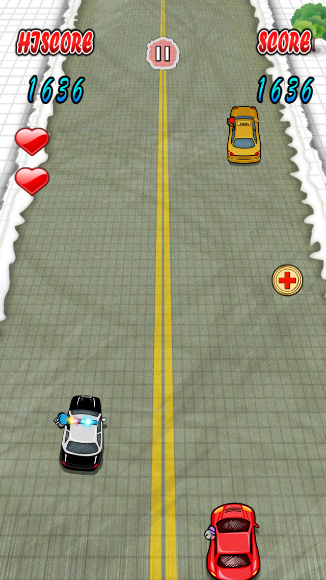 `Stickman Police Car Crime Chase Race: The Doodle Chase Racing Free by Top Crazy Games screenshot 2