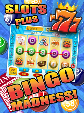 Aces Bingo Slots Casino - Crazy Fun Vegas-Style Super Bingo Slot Machine Game Free screenshot 7