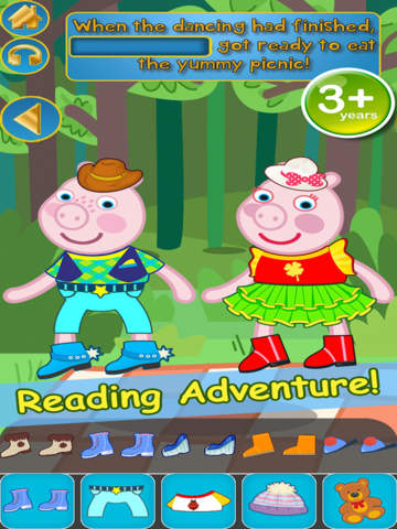 My Interactive Happy Little Pig Story Book Dress Up Time Game - Advert Free App screenshot 10
