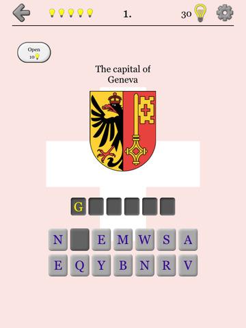Swiss Cantons - Map & Capitals screenshot 7