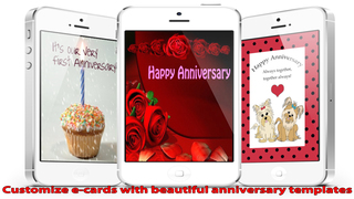 The Ultimate Anniversary eCards with Photo Editor.Customize and send anniversary eCards with text and voice greeting messages screenshot 1