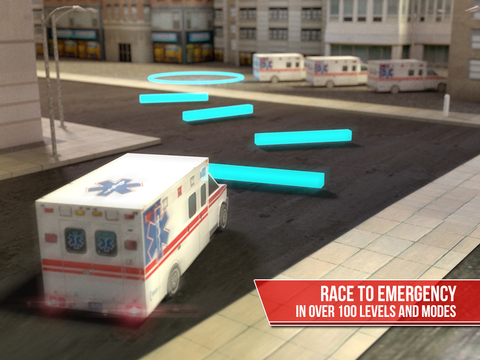 Ambulance Simulator 3D - Patients emergency rescue and hospital delivery sim - Test real car driving, parking and racing skills screenshot 8