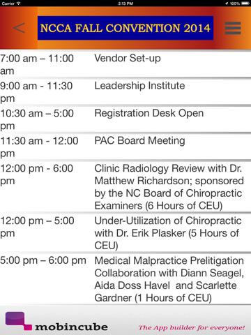 NCCA Event App screenshot 10