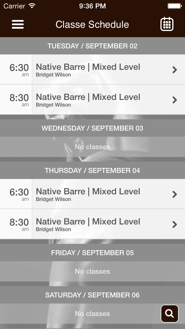 Native Barre Studios screenshot #2