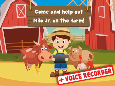Milo's Free Mini Games for a wippersnapper - Barn and Farm Animals Cartoon screenshot 6