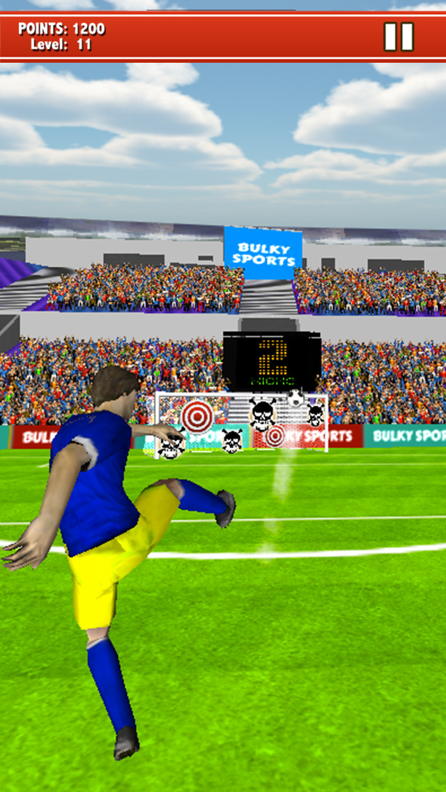 Soccer Kicks 2015 - Ultimate football penalty shootout game by BULKY SPORTS screenshot 3