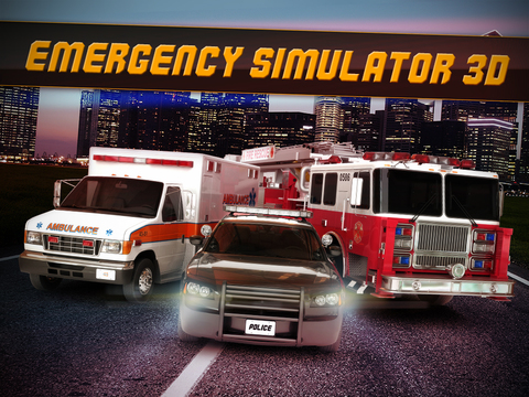 Emergency Simulator 3D - Real Driving and Parking Test Sim - Drive and Park Ambulance, Fire Truck and Police Car screenshot 6