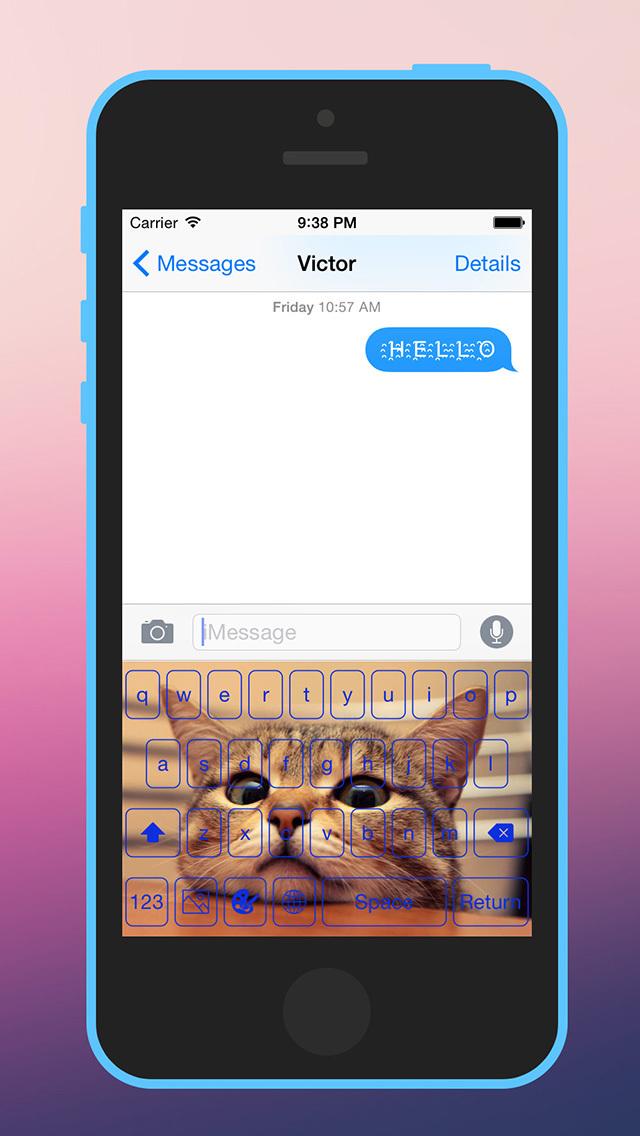 Photo Keyboard for iOS 8 screenshot 1